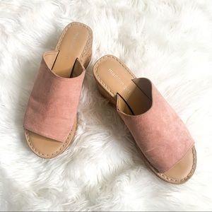 Madden Girl Lolita Pink Platform Wedges Cork 9